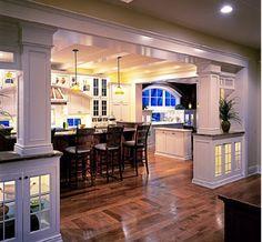 Open kitchen concept - so pretty