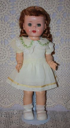 Yellow Organdy Dress and Slip for Chubby Toddler Doll 1950s