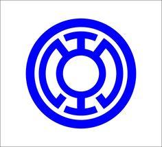 Blue Lantern Corps logo Vinyl Decal, DC Comics, Green Lantern #DecalDrama