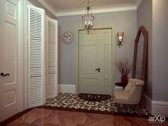 דלתות רפפה לארון במבוא, שילוב עם חיפוי קיר באבן דקורטיבי שאפשר לעשות