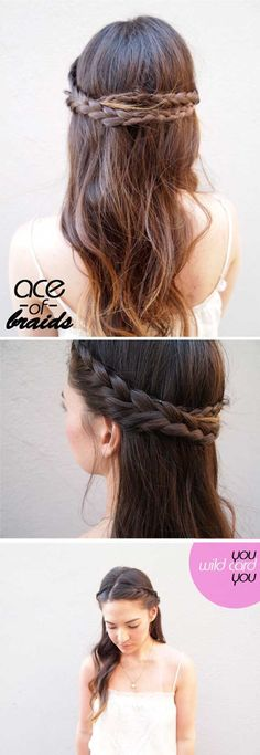 8 Friendly Cute 5 Minute Hairstyles for School Gallery Check more at www.juanpa… 8 Friendly Cute 5 Minute Hairstyles for School Gallery Check more at www. Hairstyles For Medium Length Hair Tutorial, Braids For Medium Length Hair, Kids Braided Hairstyles, Haircuts For Long Hair, Braids For Long Hair, Quick Hairstyles, Hairstyles For School, Down Hairstyles, Braided Ponytail