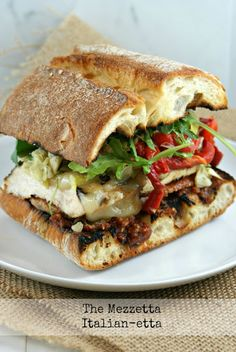 The Mezzetta Italian-Etta Sandwich - Authentic Suburban Gourmet Gourmet Sandwiches, Delicious Sandwiches, Wrap Sandwiches, Sandwich Recipes, Italian Sandwiches, Tapas, Paninis, I Love Food, Good Food