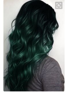 Emerald green dark roots