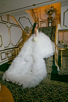 Royal Train! Custom Gown by Monica's Bridal