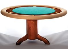 How to Build a Poker Table: Simple DIY Woodworking Project - Popular Mechanics Poker Table Diy, Round Poker Table, Poker Table Plans, Round Wooden Dining Table, Diy Table, Woodworking Projects That Sell, Learn Woodworking, Popular Woodworking, Diy Wood Projects