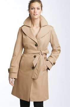 Collection Ellen Tracy Short Hooded Trench (Nordstrom Exclusive) available at #Nordstrom