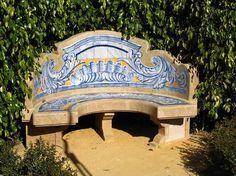 Every Mediterranean garden needs a ceramic tile bench.