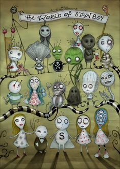 TB183. The World of Stainboy / Short Movie Poster (2000) / #Movieposter / #Timburton