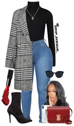 Boujee Outfits, Baddie Outfits Casual, Curvy Girl Outfits, Cute Swag Outfits, Dope Outfits, Classy Outfits, Stylish Outfits, Mode Streetwear, Streetwear Fashion