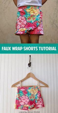 Faux Wrap Shorts Tutorial - Sew Pretty Sew Free