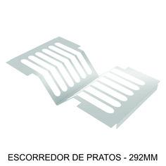 ESCORREDOR DE PRATOS - 292mm Indispensável na cozinha, com possibilidade de escorrer água de 6 pratos por vez.