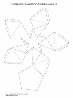 Net pentagonal-pentagrammic shape
