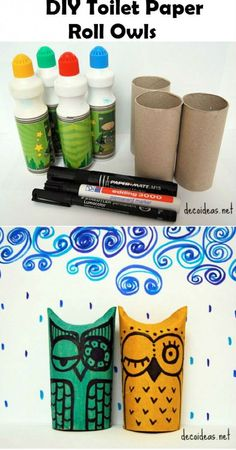 DIY Toilet Paper Roll Owls Here is a super cute project to take on with your kids. It takes the most ovious thing that people feel is garbage and turns it into a unique piece of art. Click on over to...