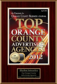 oh the sweet plaque of success. #winning #advertising Orange County Business Journal