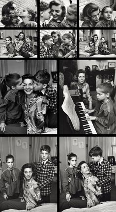Lauren Bacall and her children