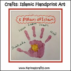 Karima's Crafts: 5 Pillars of Islam Crafts - 30 Days of Ramadan Crafts 5 Pillars, Pillars Of Islam, Activities For Kids, Crafts For Kids, Eyfs Activities, Islam For Kids, Ramadan For Kids, Ramadan Tips, Ramadan Recipes