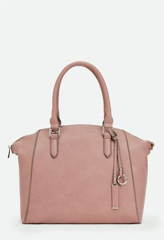 This feminine tote will add instant polish to any look. It's minimal faux leather construction makes for a versatile style that can be paired with everything you own. ...