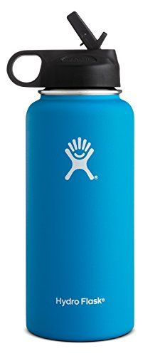 I just saw this and had to have it Hydro Flask Vacuum Insulated Stainless Steel Water Bottle Wide Mouth with Straw Lid (Pacific, 32-Ounce) you can {read more about it here http://bridgerguide.com/hydro-flask-vacuum-insulated-stainless-steel-water-bottle-wide-mouth-with-straw-lid-pacific-32-ounce/