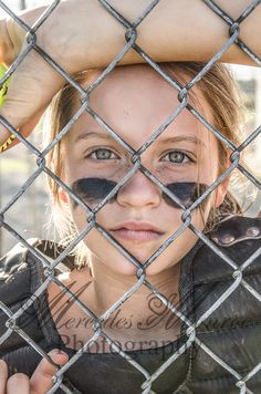 "Girls Softball - I like this entire ""through the fence"" series."