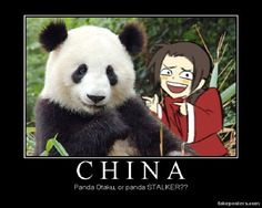 I laughed too hard. Its chine. With a panda. Cause China loves panda's :D Plus his face is perfect. Hetalia Funny, Hetalia Fanart, China Hetalia, Demotivational Posters, Axis Powers, Geek Out, Awesome Anime, Panda Bear, Otaku