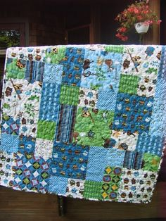 Quilt Pattern.....baby And Large Lap Size, Easy And Quick ... Flowers In The…
