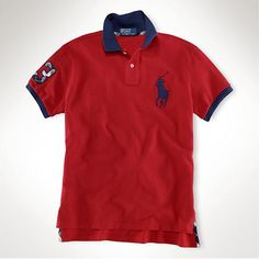 Ralph lauren 1031 custom-fit tartan big pony polo in red,ralph lauren  factory 090efe929c5