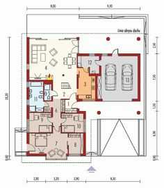DOM.PL™ - Projekt domu AC Alan II G2 CE - DOM AE9-95 - gotowy koszt budowy Apartment Balcony Garden, Apartment Balconies, Weekend House, Small House Design, House Plans, Floor Plans, Construction, How To Plan, Architecture