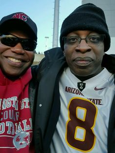 Here I am rocking a DJ Foster jersey posing with my cousin CAMERON Mitchell, an ex-WSU WR, at the ASU-WSU game 11/7/15.