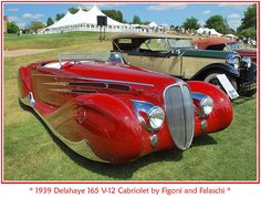 1939 Delahaye 165 V-12 Cabriolet by Figoni and Falaschi by Steve Brown - sjb4photos, via Flickr.com