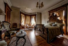 The Haunted Victorian Mansion - TrigPhotography Haunted Houses For Sale, Haunted Houses In America, Scary Houses, Victorian House Interiors, Vintage Interiors, Victorian Homes, Copper Room, Abandoned Mansions, Abandoned Property