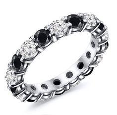 2.00 Carat Black & White Diamond Eternity Band