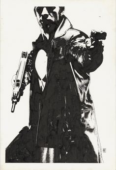 Splash Page Comic Art :: For Sale Artwork :: Punisher Movie Teaser 3 Poster Original by artist Tim Bradstreet
