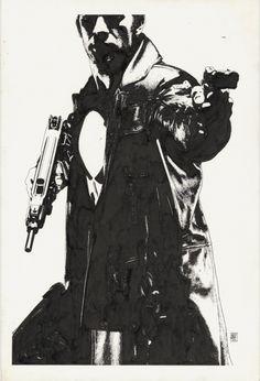 Splash Page Comic Art :: For Sale Artwork :: Punisher Movie Teaser 3 Poster Original by artist Tim Bradstreet