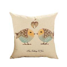 愛の鳥クッションインサートを含まないアメリカのヴィンテージ幸運デザインソファ装飾スロー枕オフィスソファクッションヴィンテージレトロ