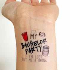 15 Custom Bachelor Party Temporary Tattoos for the by LoveAndLion