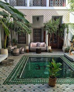 Le Riad Yasmine, Marrakesh Your sleeping quarters flooring is definitely important. Le Riad, Riad Marrakech, Exterior Design, Interior And Exterior, Interior Plants, Outdoor Spaces, Outdoor Living, Outdoor Decor, Beautiful Homes