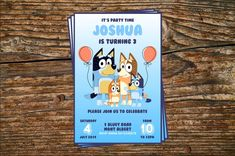 Printable Birthday Invitation on Etsy 4th Birthday Parties, Baby Birthday, Birthday Cakes, Birthday Ideas, Printable Birthday Invitations, Party Invitations, Cake Kids, Abc For Kids, Toy Story Party