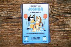 Printable Birthday Invitation on Etsy 4th Birthday Parties, Baby Birthday, Birthday Cakes, Birthday Ideas, Party Invitations Kids, Printable Birthday Invitations, Cake Kids, Abc For Kids, Toy Story Party