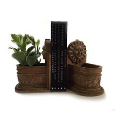 Hey, I found this really awesome Etsy listing at https://www.etsy.com/il-en/listing/460614068/pair-celestial-sun-bookend-planters