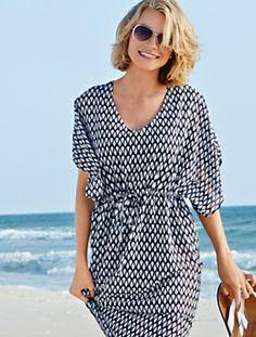 Seashell Tunic Dress #Talbots #BeachCollection