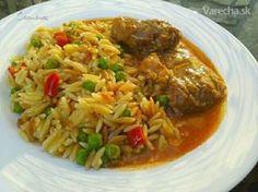 Czech Recipes, Stew, Grains, Lunch, Chicken, Foodies, Diet, Kitchens, Eat Lunch