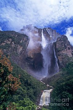 Angel Falls In Canaima National Park Venezuela Photograph by Dave Welling  http://fineartamerica.com