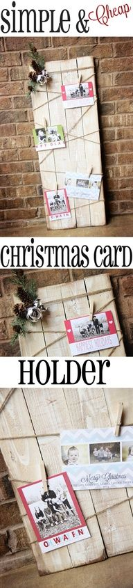 Super CUTE Christmas Card Display at Shanty-2-Chic.com // Great way to display photos after Christmas too! #12daysofchristmas