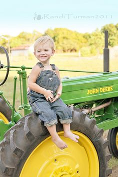 someday farmer---this reminds me of my sister, husband and boys who would only buy John Deere farm machinery.