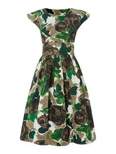 Love Ur Look | Green Button Back Dress £75.00 #houseoffraser #POPatHOF