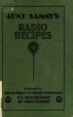 Aunt Sammy's radio recipes                                                                                                                                                                                 More