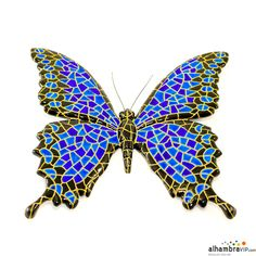 See related links to what you are looking for. Types Of Butterflies, Grain Of Sand, Insects, Butterfly, Brooch, Wall Art, Mosaic Ideas, Etsy, Jewelry