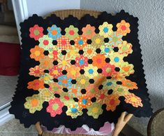 "Citrus Garden ""My hexie quilt is finished and I think it looks amazing. My quilting friend did an awesome job on it! I'm so pleased. ..."""