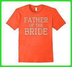 Mens Father of the Bride - Coordinating Wedding Party Tee Shirts 3XL Orange - Wedding shirts (*Amazon Partner-Link)