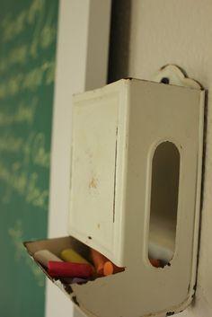 chalk holder/vintage match holder
